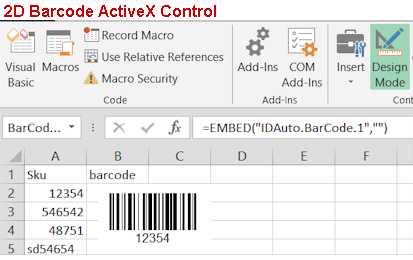 2D Barcode ActiveX Control
