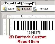 Download 2D Barcode Custom Report Item