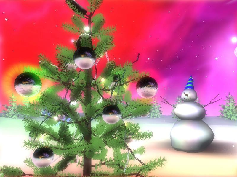 Download 3D Christmas Space screensaver