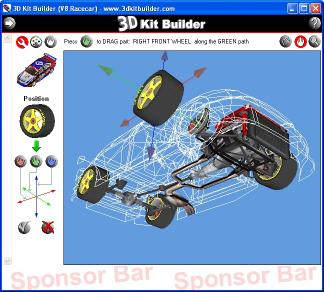 Download 3D Kit Builder (V8 Racecar)