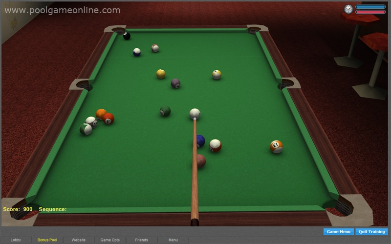 Download free online pool game software: ipool, poolians real.
