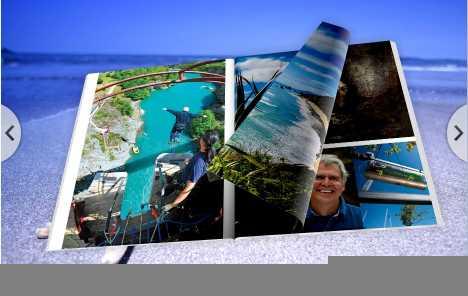 3D PageFlip Book Seaside Theme