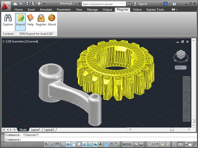 3DM Import for AutoCAD - standaloneinstaller com