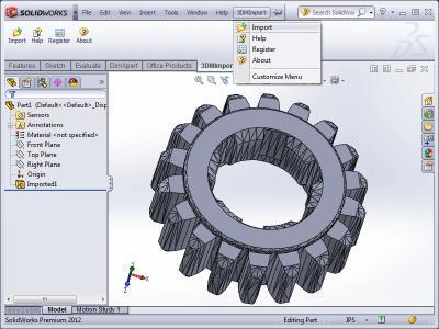Download 3DM Import for SolidWorks