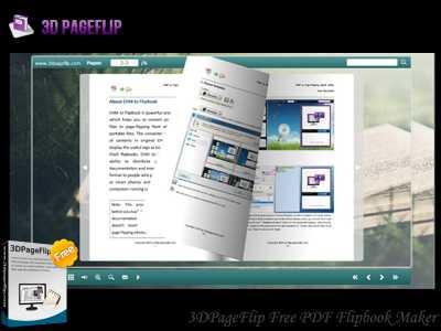 3DPageFlip Free PDF Flipbook Maker