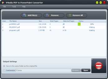 4Media PDF to PowerPoint Converter