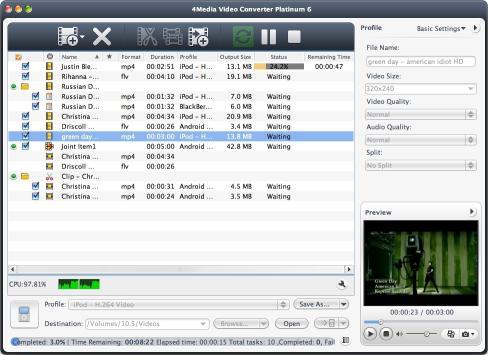 Download 4Media Video Converter Platinum for Mac