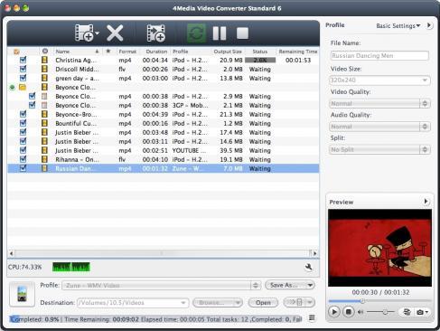 Download 4Media Video Converter Standard for Mac