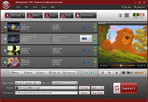 4Videosoft PSP Converter