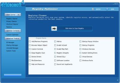 Download 4Videosoft Registry Optimizer