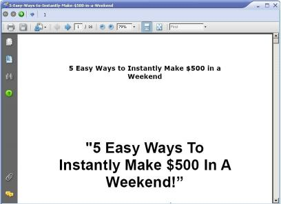 Download 5 Easy Ways to Make $500 in a Weekend