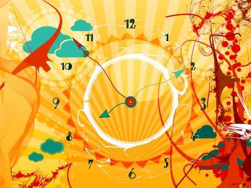 7art AlienSun Clock screensaver