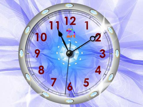 Download 7art Crystal Clock ScreenSaver