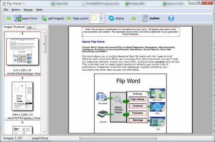 A-PDF Flip Word