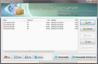 A-PDF Image Downsample