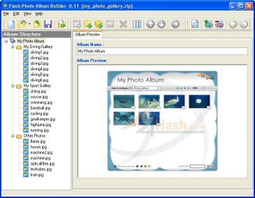 Download A4Desk Flash Photo Gallery Builder