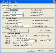Download ABarcode ActiveX