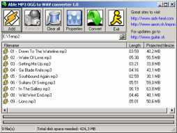 Able MP3 OGG to WAV converter