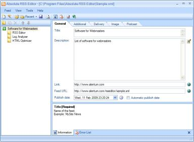Download Absolute RSS Editor