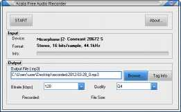 Acala Free Audio Recorder