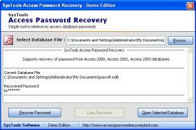 Download Access Password Recovery Tool