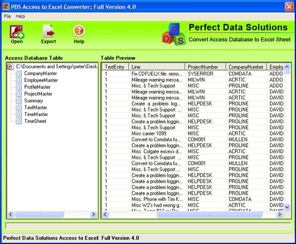 Access to Excel Converter - standaloneinstaller com