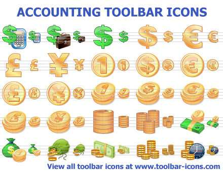 Download Accounting Toolbar Icons