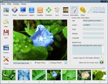 Download Acme Photo ScreenSaver Maker