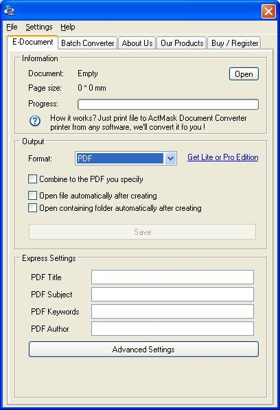 Download ActMask Document Converter X
