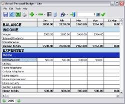 Download Actual Personal Budget - Lite