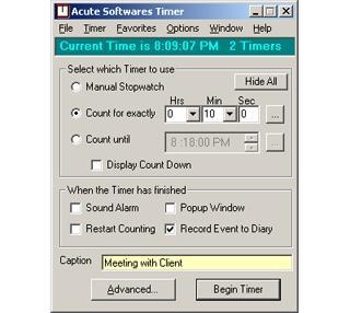 Download Acute Softwares Timer