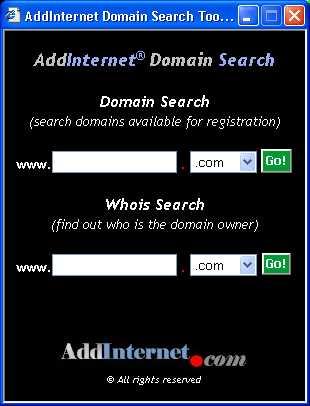Download AddInternet Domain Search