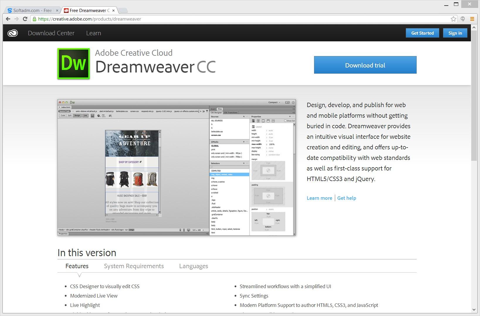 ⛔ Dreamweaver download for windows   Adobe Dreamweaver Download