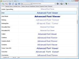 Download Advanced Font Viewer