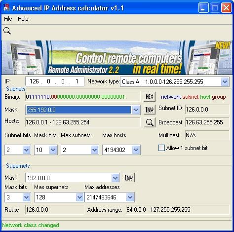 Download Advanced IP Address Calculator