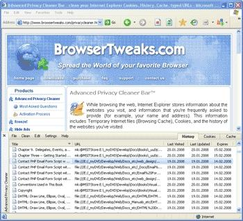 Download Advanced Privacy Cleaner Bar