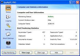 Download Advanced SpyMyPC Keylogger
