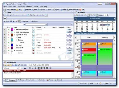 Download Agenda At Once Free PIM