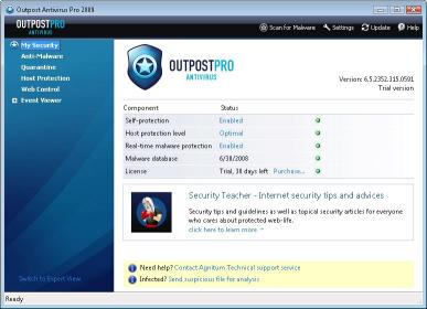 Download Agnitum Outpost Antivirus Pro
