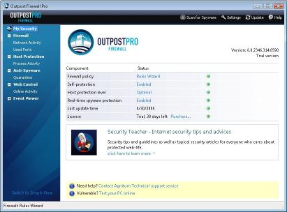 Download Agnitum Outpost Firewall Pro