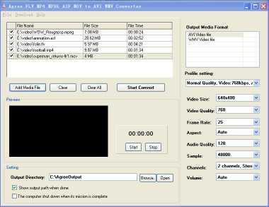 Agree FLV MP4 MPEG to AVI WMV Converter