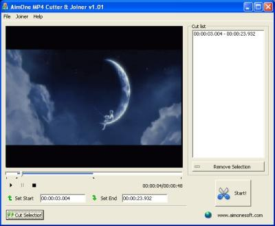 Download AimOne MP4 Cutter & Joiner