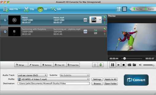 Aiseesoft HD Converter for Mac