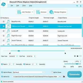 Download Aiseesoft iPhone Ringtone Maker