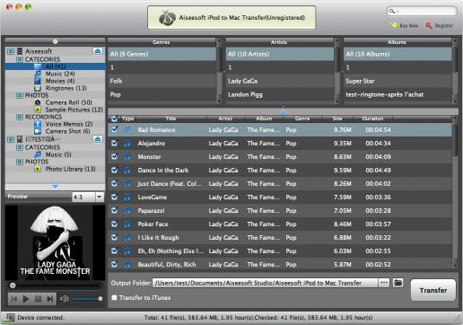 Download Aiseesoft iPod to Mac Transfer
