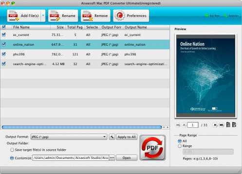 Aiseesoft Mac PDF Converter Ultimate