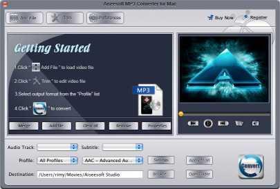 Aiseesoft MP3 Converter for Mac
