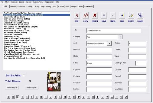 Download Album Tracker