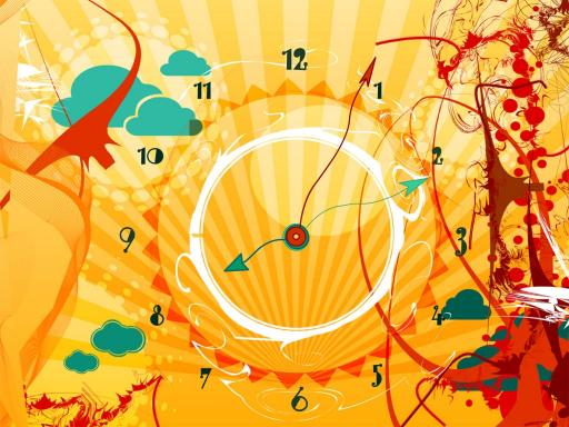 Download Alien Sun Clock screensaver