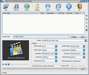 Download Allok 3GP PSP MP4 iPod Video Converter